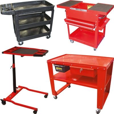 Service Carts and Tear Down Table